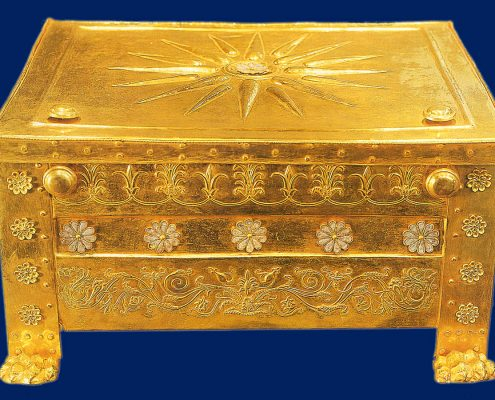 The gold larnax of the King Philip the II